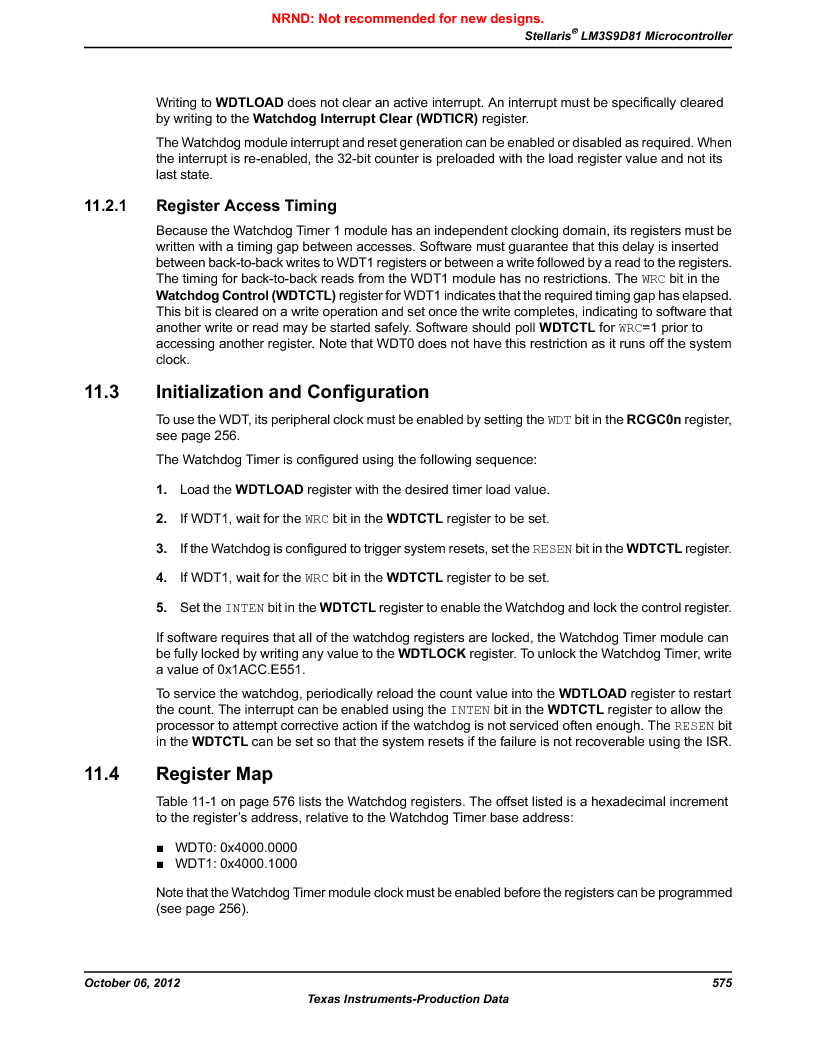 LM3S9D81 ,Texas Instruments厂商,Stellaris LM3S Microcontroller 108-NFBGA -40 to 85, LM3S9D81 datasheet预览  第575页