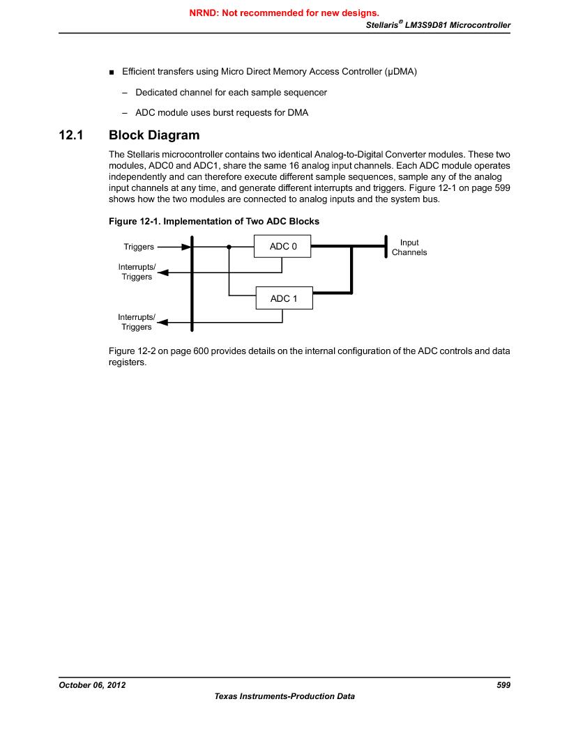 LM3S9D81 ,Texas Instruments厂商,Stellaris LM3S Microcontroller 108-NFBGA -40 to 85, LM3S9D81 datasheet预览  第599页