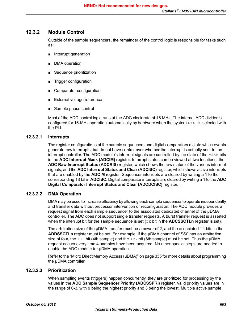 LM3S9D81 ,Texas Instruments厂商,Stellaris LM3S Microcontroller 108-NFBGA -40 to 85, LM3S9D81 datasheet预览  第603页