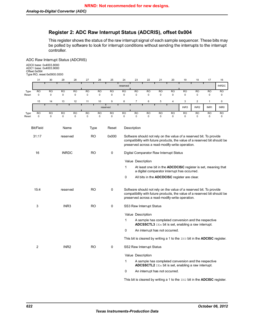 LM3S9D81 ,Texas Instruments厂商,Stellaris LM3S Microcontroller 108-NFBGA -40 to 85, LM3S9D81 datasheet预览  第622页