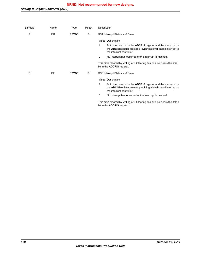 LM3S9D81 ,Texas Instruments厂商,Stellaris LM3S Microcontroller 108-NFBGA -40 to 85, LM3S9D81 datasheet预览  第628页