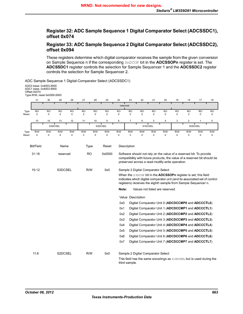 LM3S9D81 ,Texas Instruments厂商,Stellaris LM3S Microcontroller 108-NFBGA -40 to 85, LM3S9D81 datasheet预览  第663页