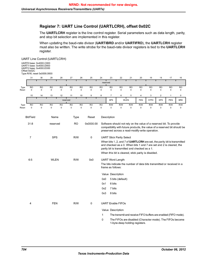 LM3S9D81 ,Texas Instruments厂商,Stellaris LM3S Microcontroller 108-NFBGA -40 to 85, LM3S9D81 datasheet预览  第704页