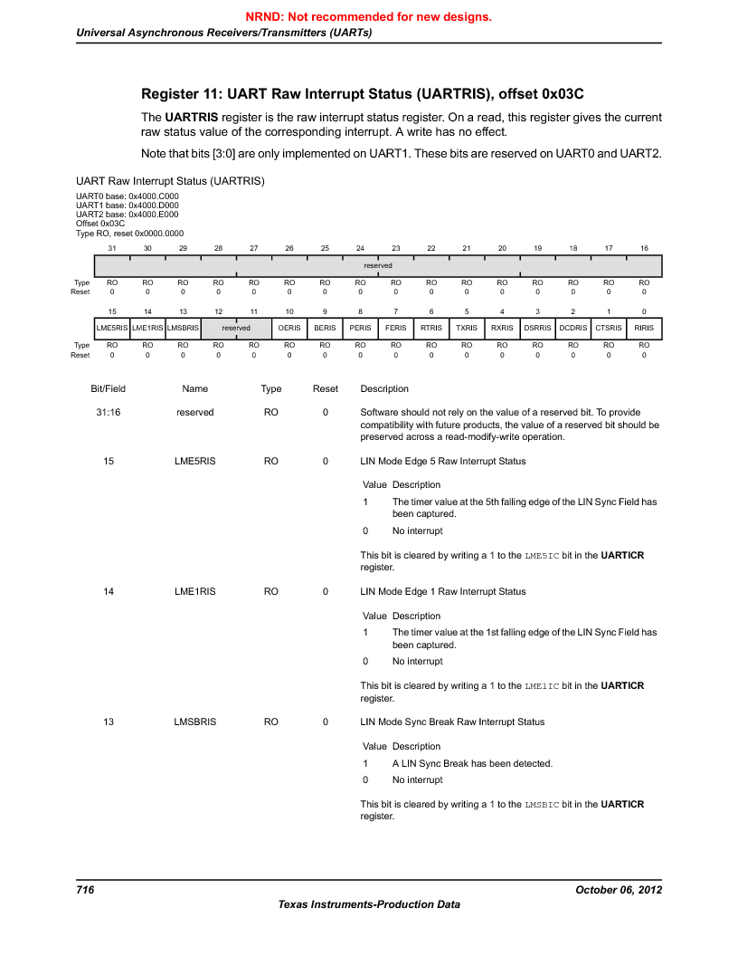 LM3S9D81 ,Texas Instruments厂商,Stellaris LM3S Microcontroller 108-NFBGA -40 to 85, LM3S9D81 datasheet预览  第716页