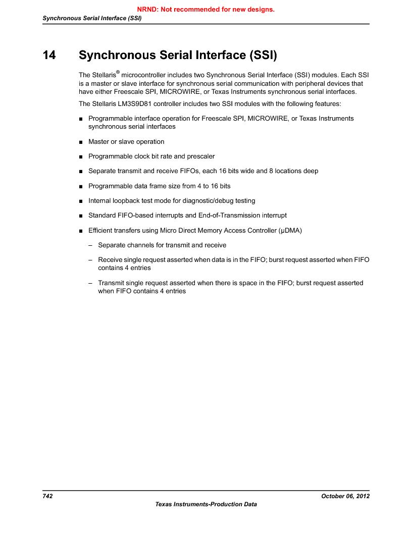 LM3S9D81 ,Texas Instruments厂商,Stellaris LM3S Microcontroller 108-NFBGA -40 to 85, LM3S9D81 datasheet预览  第742页