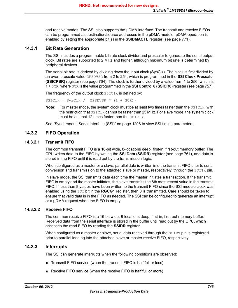 LM3S9D81 ,Texas Instruments厂商,Stellaris LM3S Microcontroller 108-NFBGA -40 to 85, LM3S9D81 datasheet预览  第745页