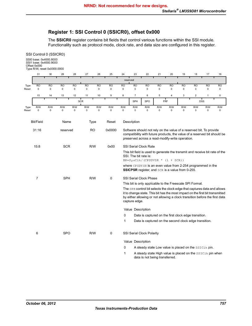 LM3S9D81 ,Texas Instruments厂商,Stellaris LM3S Microcontroller 108-NFBGA -40 to 85, LM3S9D81 datasheet预览  第757页