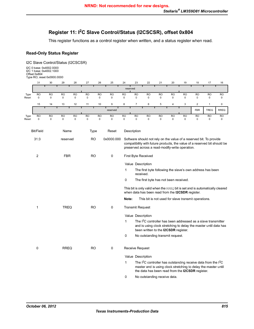 LM3S9D81 ,Texas Instruments厂商,Stellaris LM3S Microcontroller 108-NFBGA -40 to 85, LM3S9D81 datasheet预览  第815页