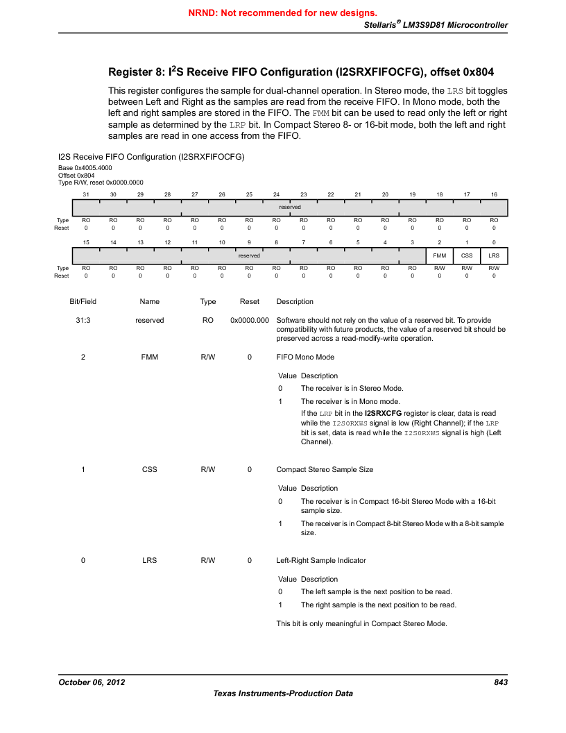 LM3S9D81 ,Texas Instruments厂商,Stellaris LM3S Microcontroller 108-NFBGA -40 to 85, LM3S9D81 datasheet预览  第843页
