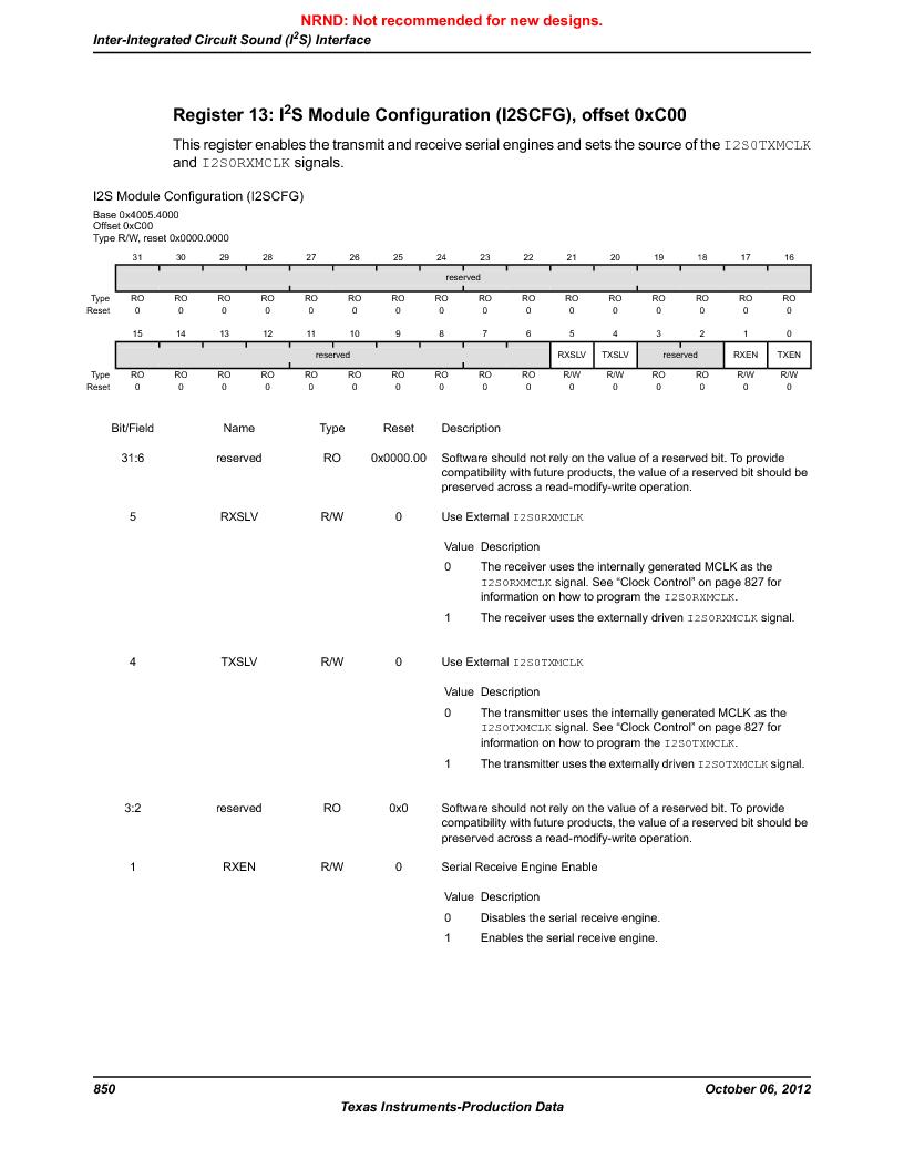 LM3S9D81 ,Texas Instruments厂商,Stellaris LM3S Microcontroller 108-NFBGA -40 to 85, LM3S9D81 datasheet预览  第850页