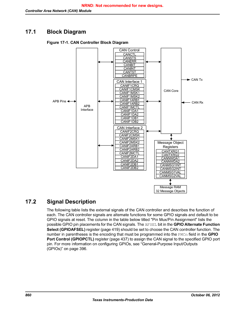LM3S9D81 ,Texas Instruments厂商,Stellaris LM3S Microcontroller 108-NFBGA -40 to 85, LM3S9D81 datasheet预览  第860页