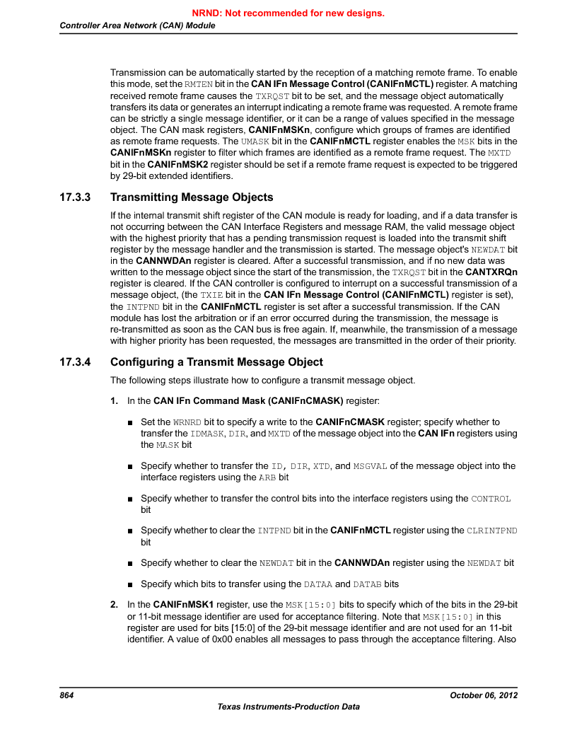 LM3S9D81 ,Texas Instruments厂商,Stellaris LM3S Microcontroller 108-NFBGA -40 to 85, LM3S9D81 datasheet预览  第864页
