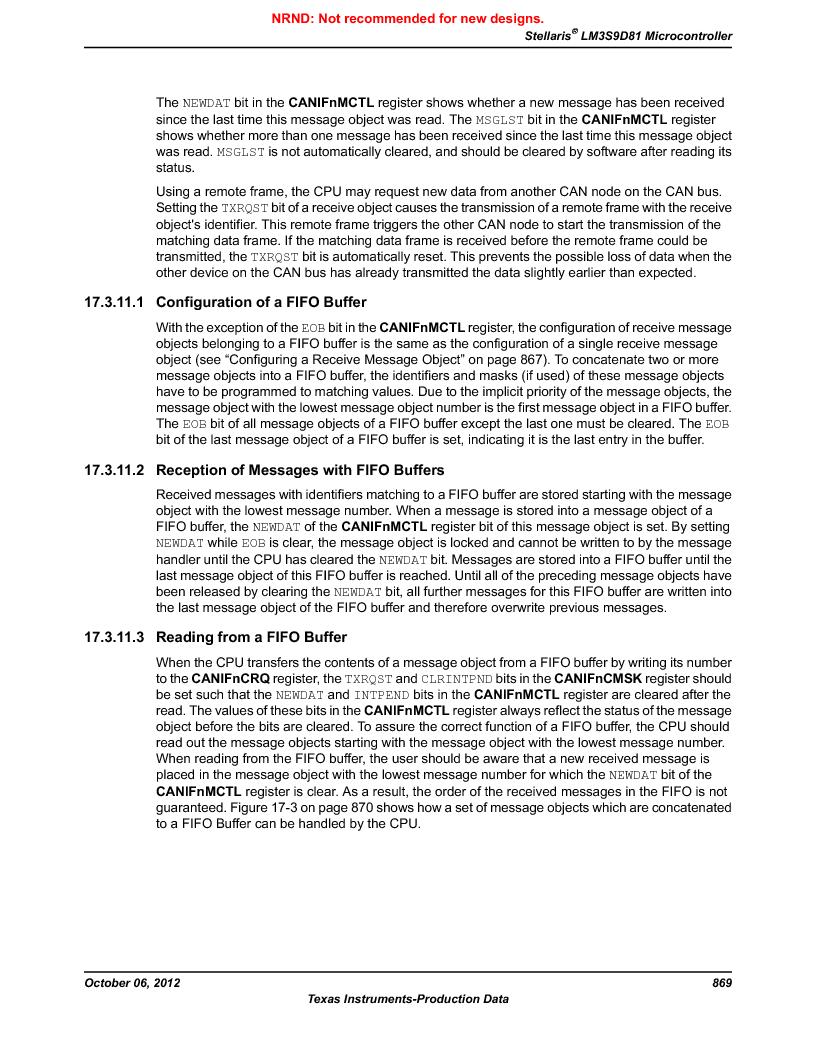 LM3S9D81 ,Texas Instruments厂商,Stellaris LM3S Microcontroller 108-NFBGA -40 to 85, LM3S9D81 datasheet预览  第869页