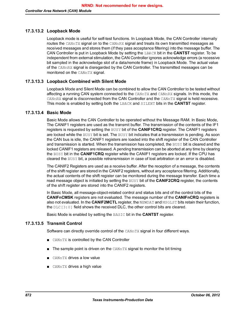 LM3S9D81 ,Texas Instruments厂商,Stellaris LM3S Microcontroller 108-NFBGA -40 to 85, LM3S9D81 datasheet预览  第872页