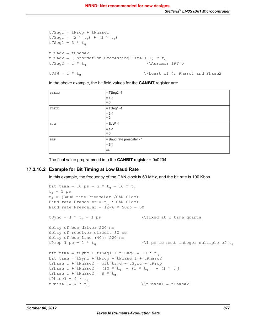 LM3S9D81 ,Texas Instruments厂商,Stellaris LM3S Microcontroller 108-NFBGA -40 to 85, LM3S9D81 datasheet预览  第877页