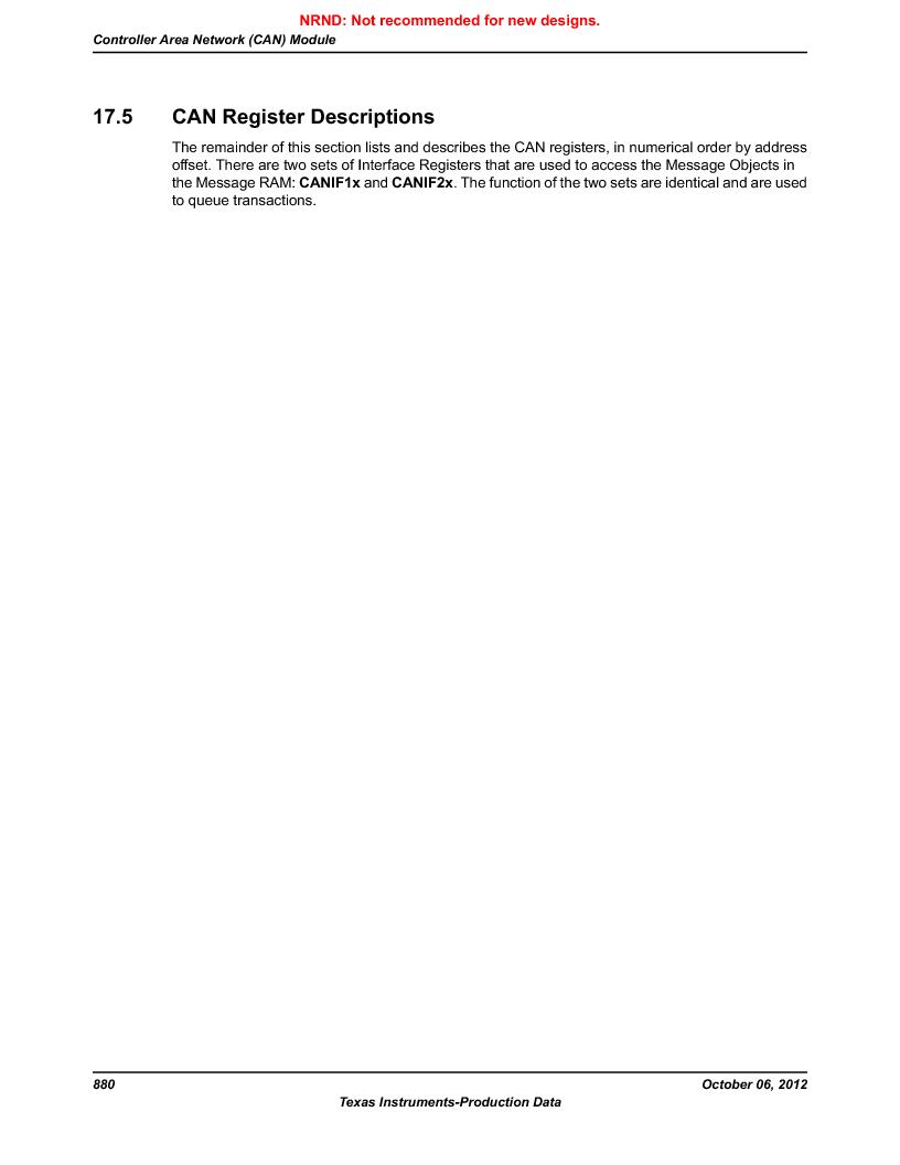 LM3S9D81 ,Texas Instruments厂商,Stellaris LM3S Microcontroller 108-NFBGA -40 to 85, LM3S9D81 datasheet预览  第880页