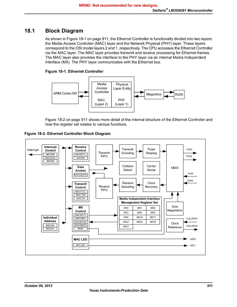 LM3S9D81 ,Texas Instruments厂商,Stellaris LM3S Microcontroller 108-NFBGA -40 to 85, LM3S9D81 datasheet预览  第911页