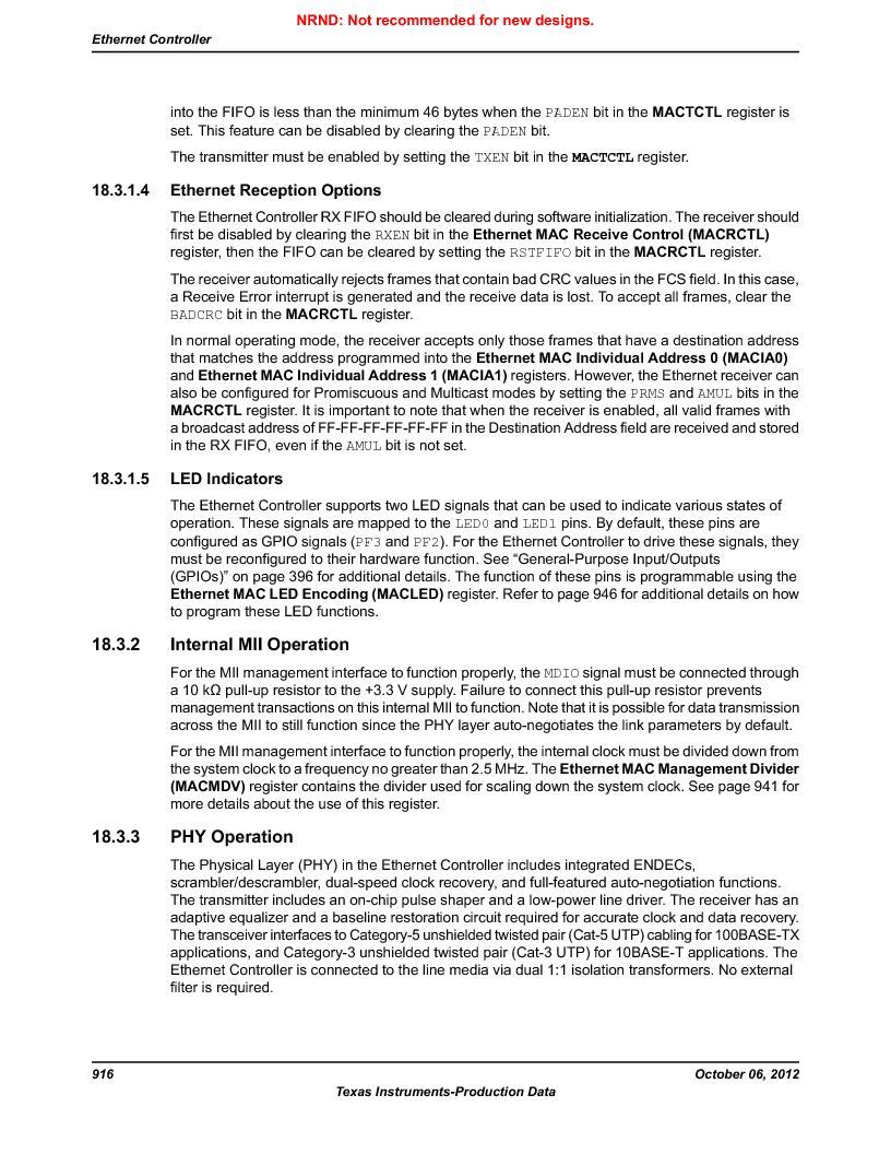 LM3S9D81 ,Texas Instruments厂商,Stellaris LM3S Microcontroller 108-NFBGA -40 to 85, LM3S9D81 datasheet预览  第916页