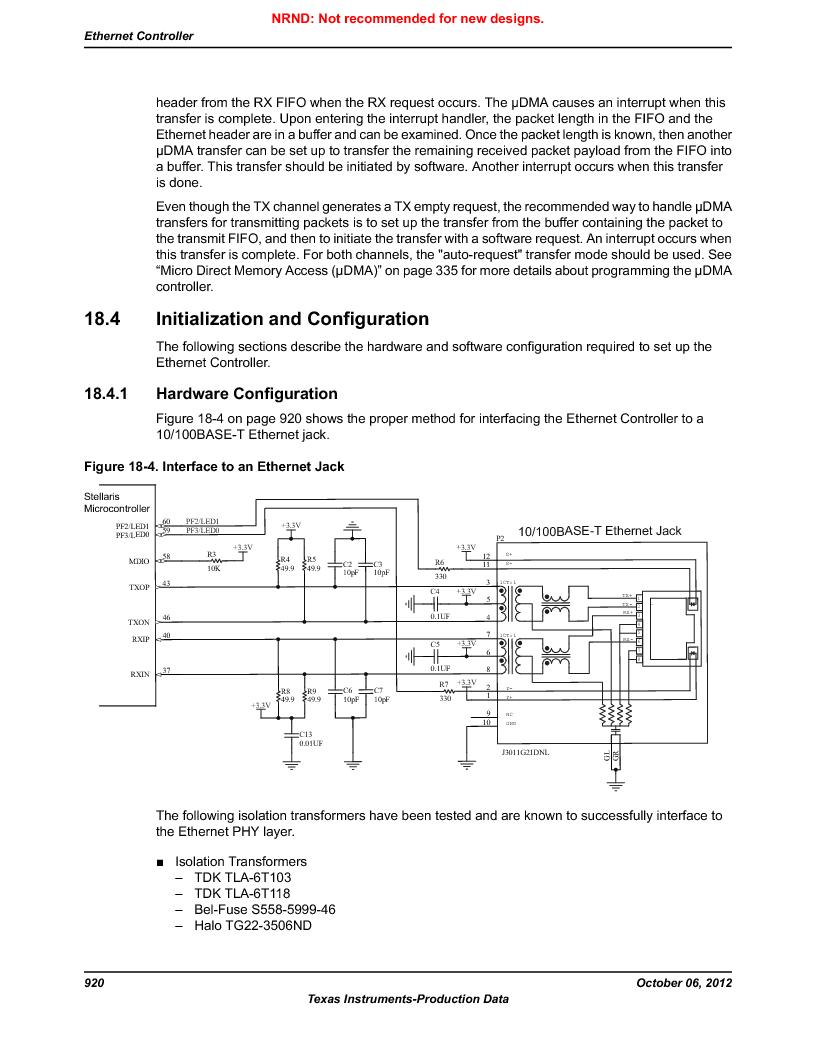 LM3S9D81 ,Texas Instruments厂商,Stellaris LM3S Microcontroller 108-NFBGA -40 to 85, LM3S9D81 datasheet预览  第920页