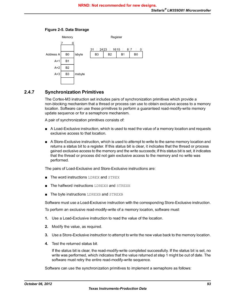 LM3S9D81 ,Texas Instruments厂商,Stellaris LM3S Microcontroller 108-NFBGA -40 to 85, LM3S9D81 datasheet预览  第93页