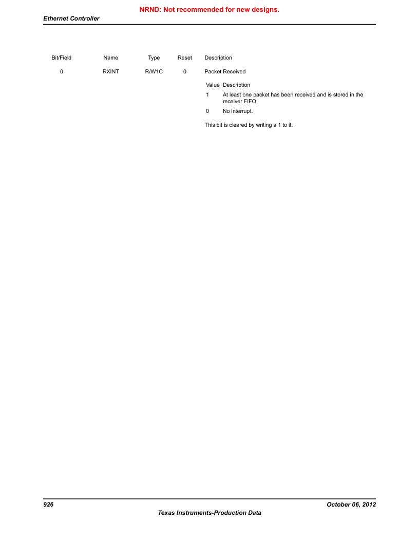 LM3S9D81 ,Texas Instruments厂商,Stellaris LM3S Microcontroller 108-NFBGA -40 to 85, LM3S9D81 datasheet预览  第926页