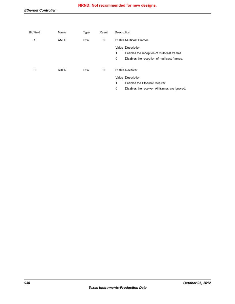 LM3S9D81 ,Texas Instruments厂商,Stellaris LM3S Microcontroller 108-NFBGA -40 to 85, LM3S9D81 datasheet预览  第930页
