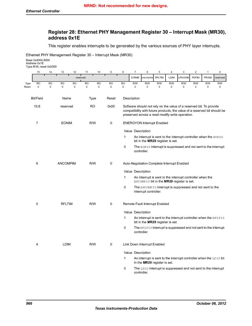 LM3S9D81 ,Texas Instruments厂商,Stellaris LM3S Microcontroller 108-NFBGA -40 to 85, LM3S9D81 datasheet预览  第966页