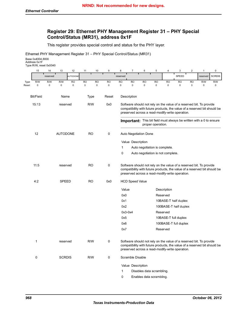 LM3S9D81 ,Texas Instruments厂商,Stellaris LM3S Microcontroller 108-NFBGA -40 to 85, LM3S9D81 datasheet预览  第968页