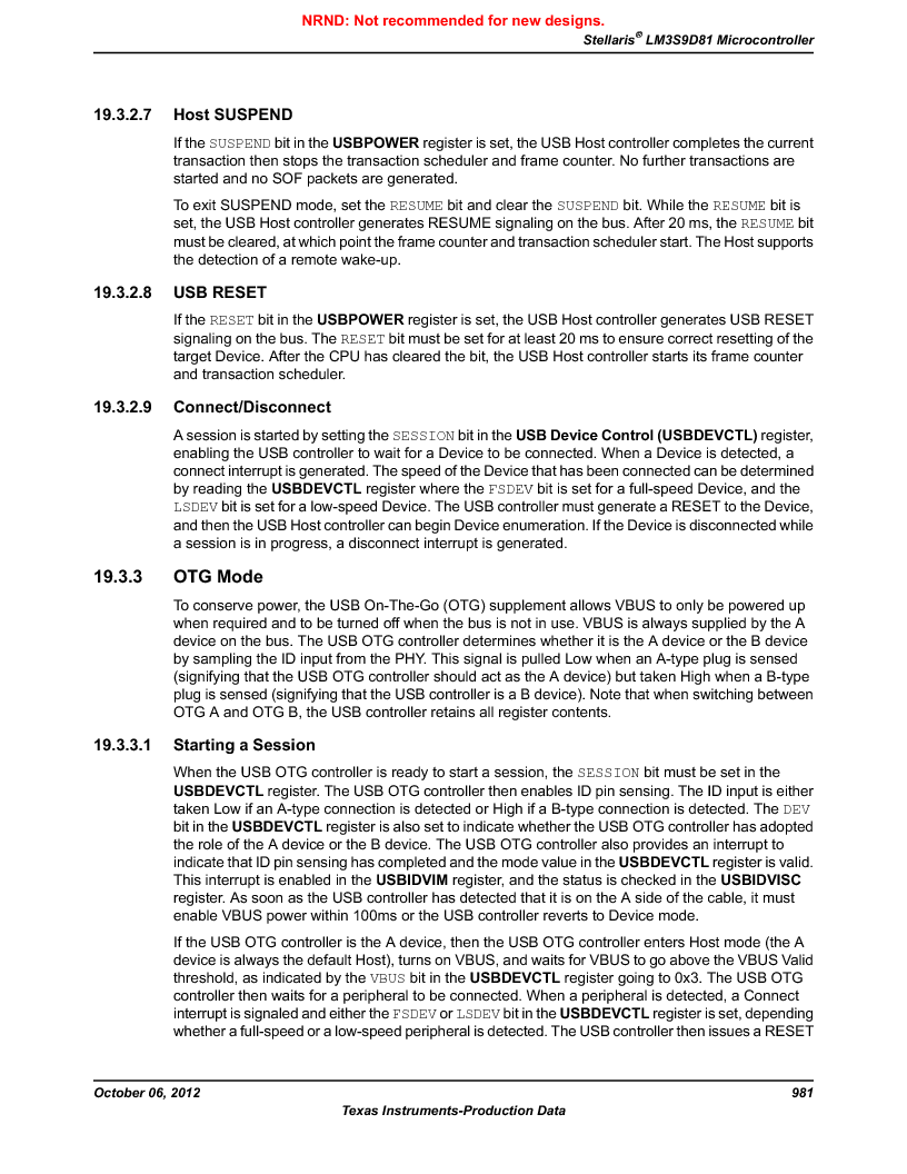 LM3S9D81 ,Texas Instruments厂商,Stellaris LM3S Microcontroller 108-NFBGA -40 to 85, LM3S9D81 datasheet预览  第981页