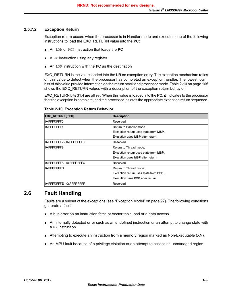 LM3S9G97 ,Texas Instruments厂商,Stellaris LM3S Microcontroller 108-NFBGA -40 to 85, LM3S9G97 datasheet预览  第105页