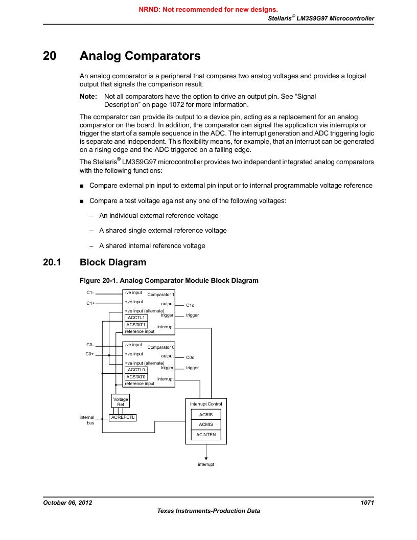 LM3S9G97 ,Texas Instruments厂商,Stellaris LM3S Microcontroller 108-NFBGA -40 to 85, LM3S9G97 datasheet预览  第1071页