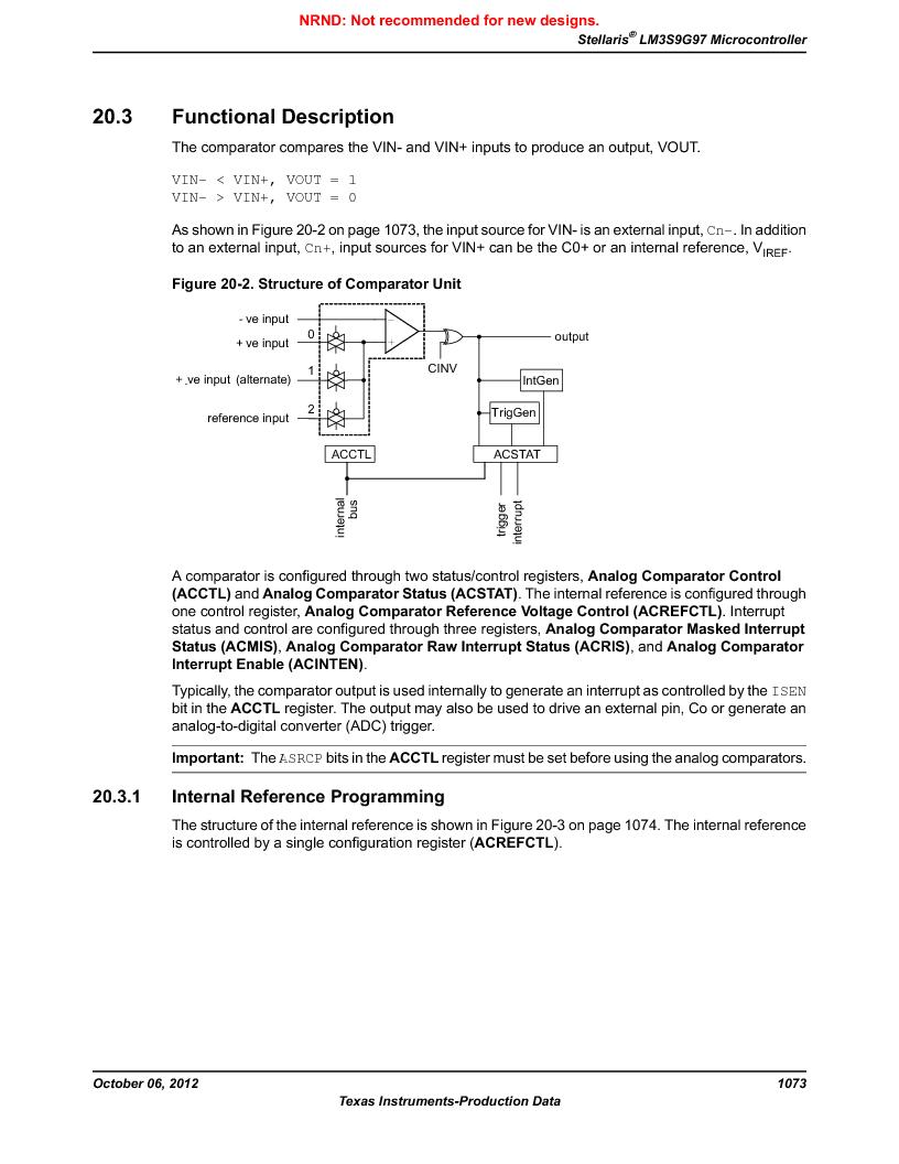 LM3S9G97 ,Texas Instruments厂商,Stellaris LM3S Microcontroller 108-NFBGA -40 to 85, LM3S9G97 datasheet预览  第1073页