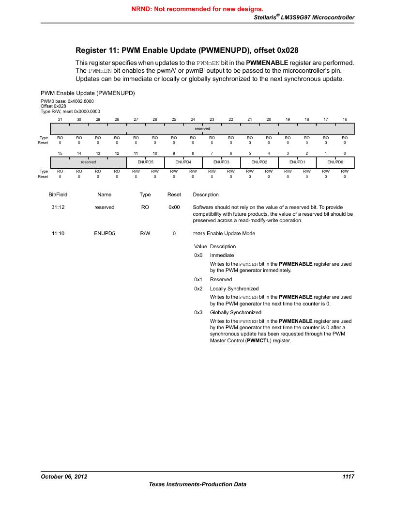LM3S9G97 ,Texas Instruments厂商,Stellaris LM3S Microcontroller 108-NFBGA -40 to 85, LM3S9G97 datasheet预览  第1117页