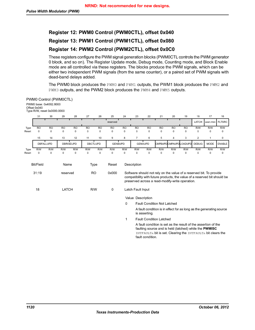 LM3S9G97 ,Texas Instruments厂商,Stellaris LM3S Microcontroller 108-NFBGA -40 to 85, LM3S9G97 datasheet预览  第1120页