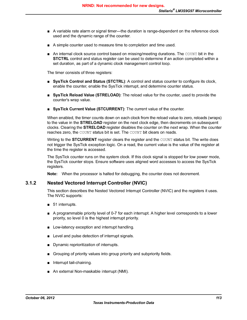 LM3S9G97 ,Texas Instruments厂商,Stellaris LM3S Microcontroller 108-NFBGA -40 to 85, LM3S9G97 datasheet预览  第113页