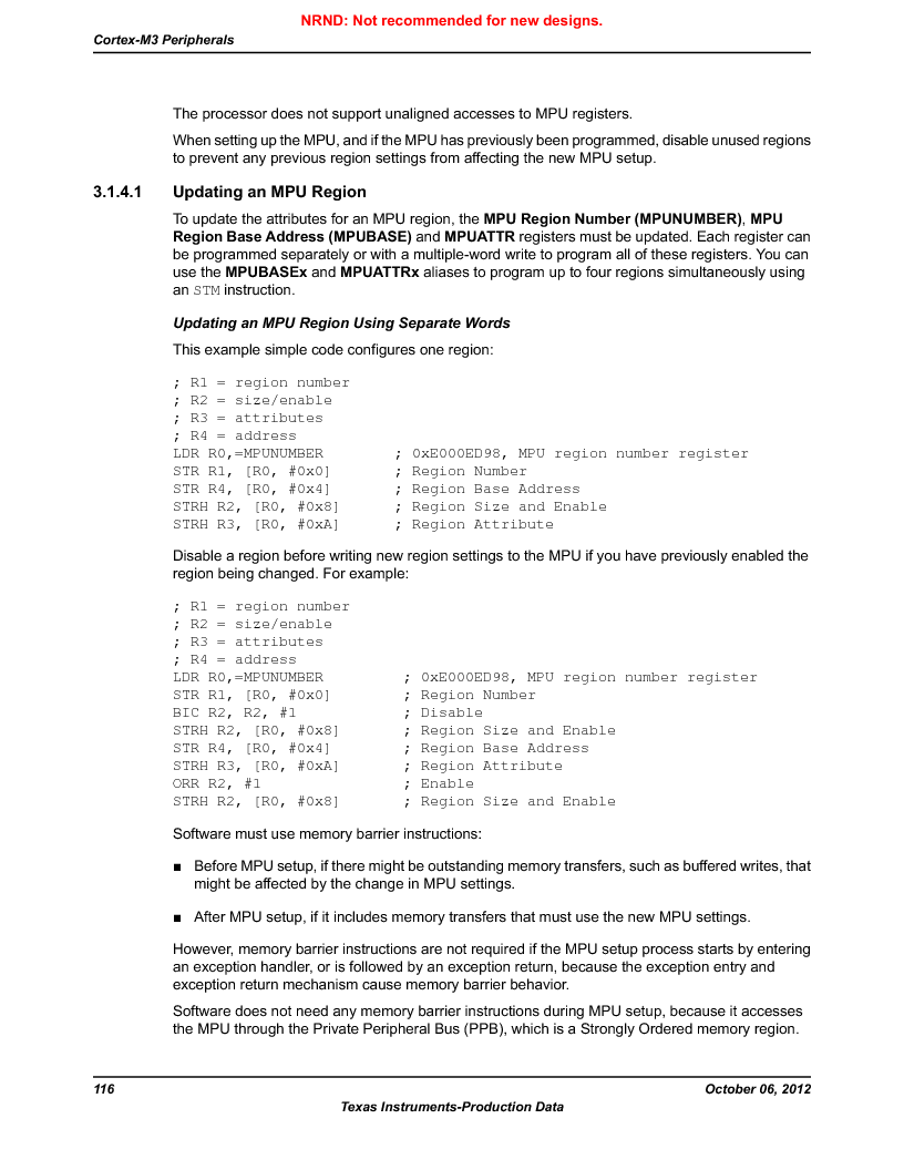 LM3S9G97 ,Texas Instruments厂商,Stellaris LM3S Microcontroller 108-NFBGA -40 to 85, LM3S9G97 datasheet预览  第116页