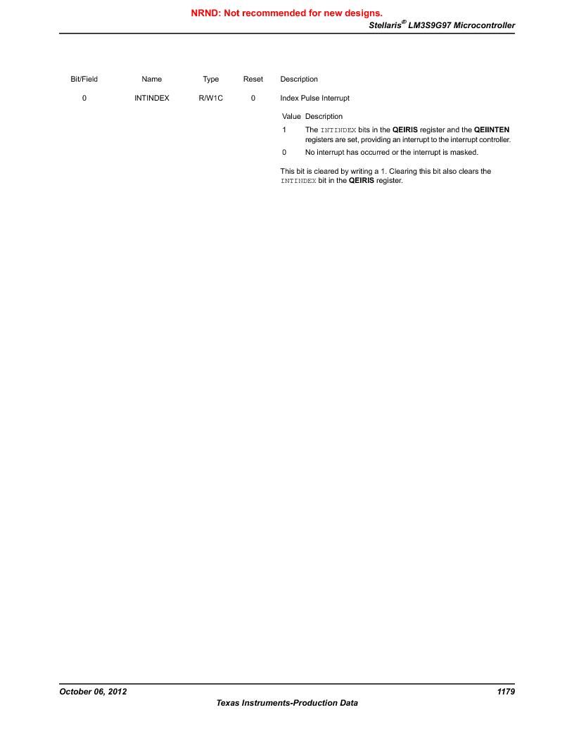 LM3S9G97 ,Texas Instruments厂商,Stellaris LM3S Microcontroller 108-NFBGA -40 to 85, LM3S9G97 datasheet预览  第1179页