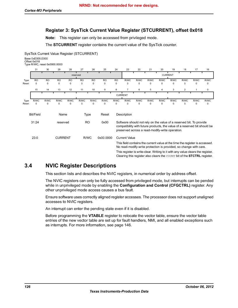 LM3S9G97 ,Texas Instruments厂商,Stellaris LM3S Microcontroller 108-NFBGA -40 to 85, LM3S9G97 datasheet预览  第126页
