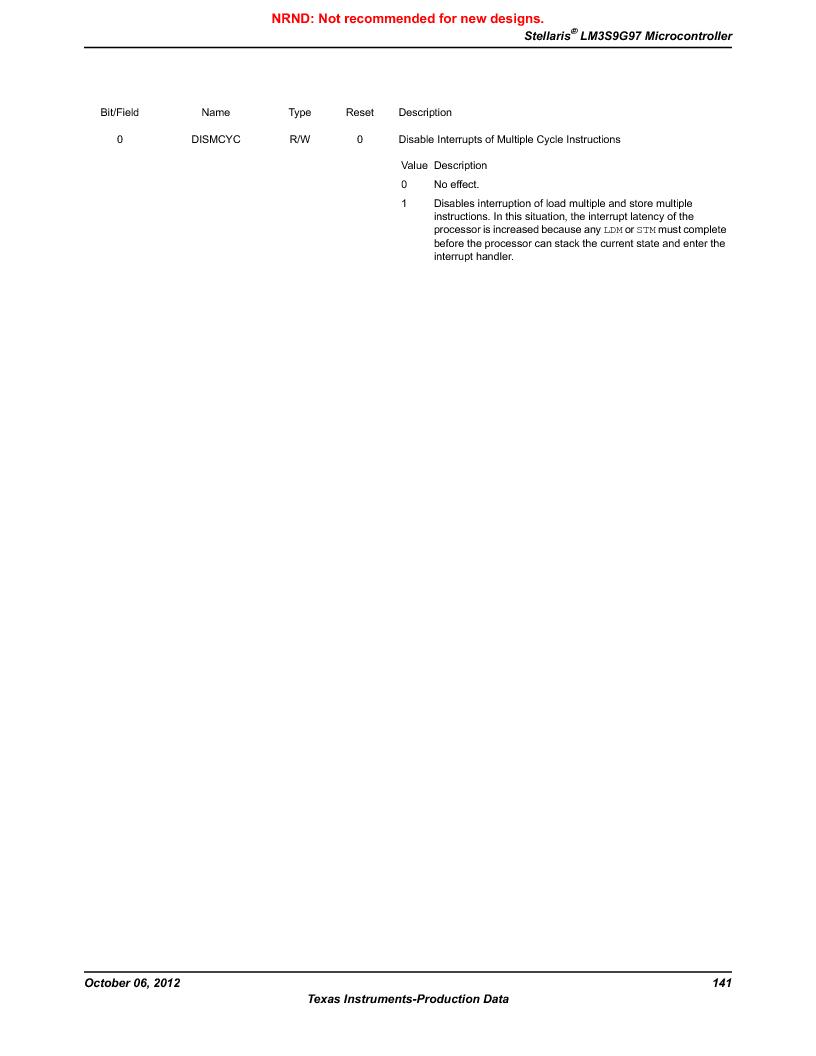 LM3S9G97 ,Texas Instruments厂商,Stellaris LM3S Microcontroller 108-NFBGA -40 to 85, LM3S9G97 datasheet预览  第141页