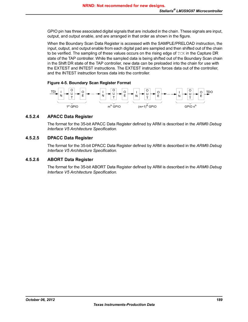 LM3S9G97 ,Texas Instruments厂商,Stellaris LM3S Microcontroller 108-NFBGA -40 to 85, LM3S9G97 datasheet预览  第189页