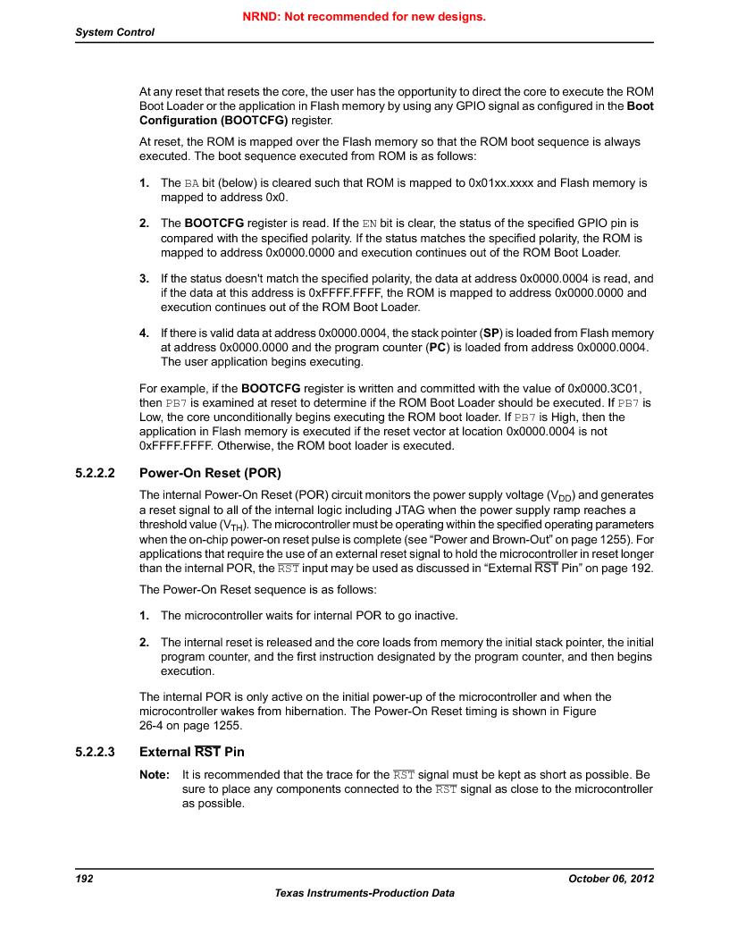 LM3S9G97 ,Texas Instruments厂商,Stellaris LM3S Microcontroller 108-NFBGA -40 to 85, LM3S9G97 datasheet预览  第192页