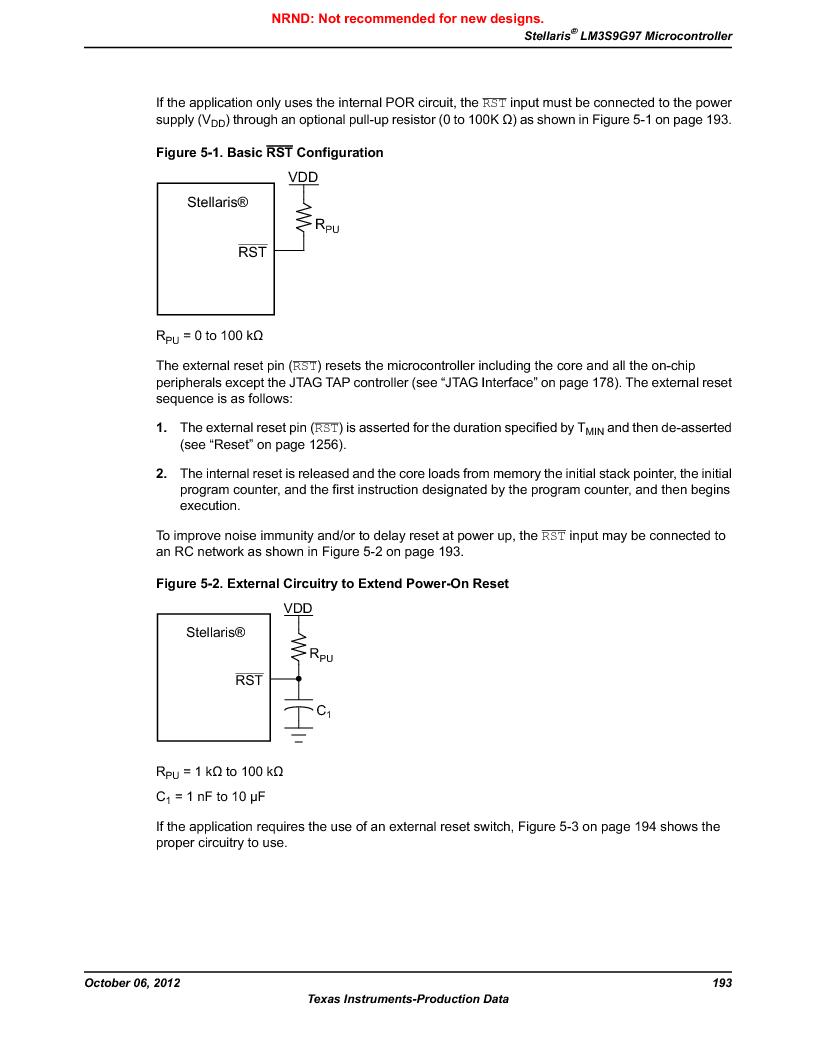 LM3S9G97 ,Texas Instruments厂商,Stellaris LM3S Microcontroller 108-NFBGA -40 to 85, LM3S9G97 datasheet预览  第193页