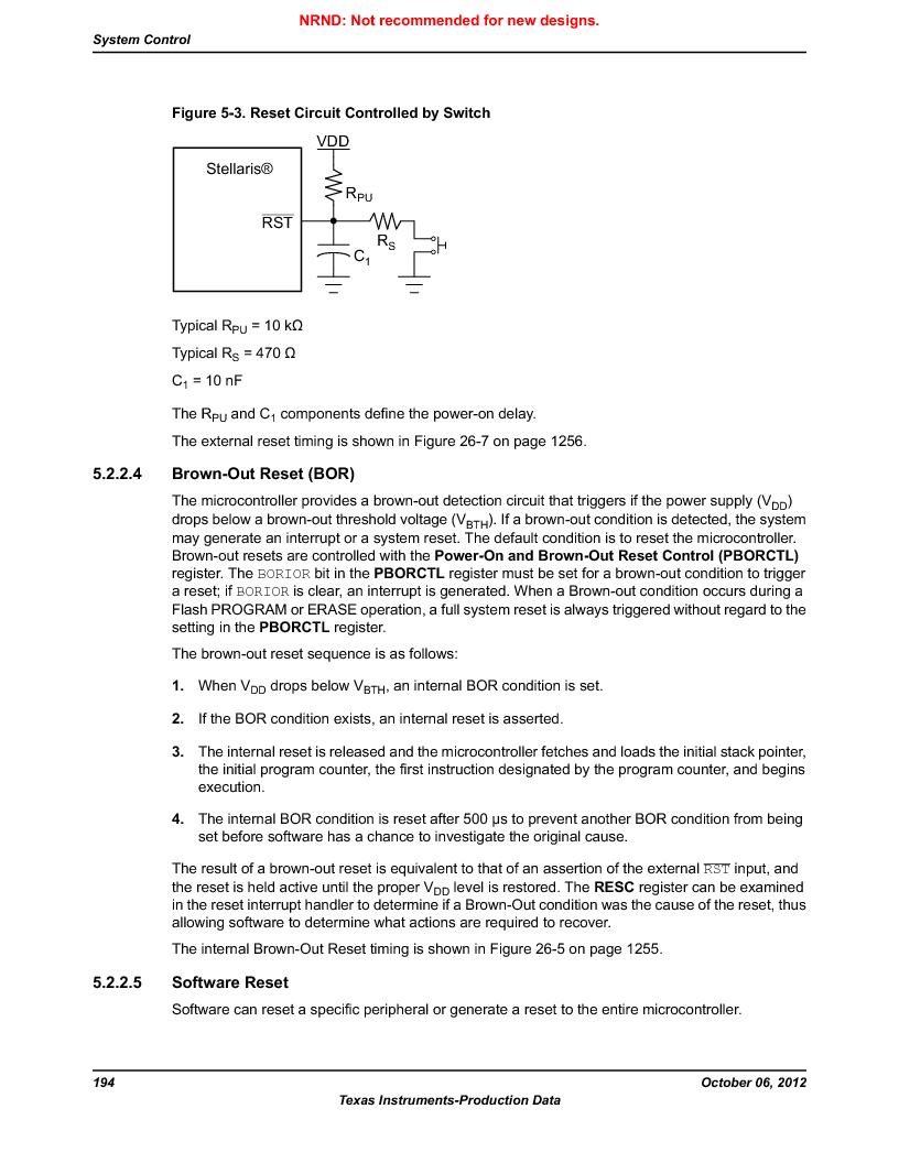 LM3S9G97 ,Texas Instruments厂商,Stellaris LM3S Microcontroller 108-NFBGA -40 to 85, LM3S9G97 datasheet预览  第194页