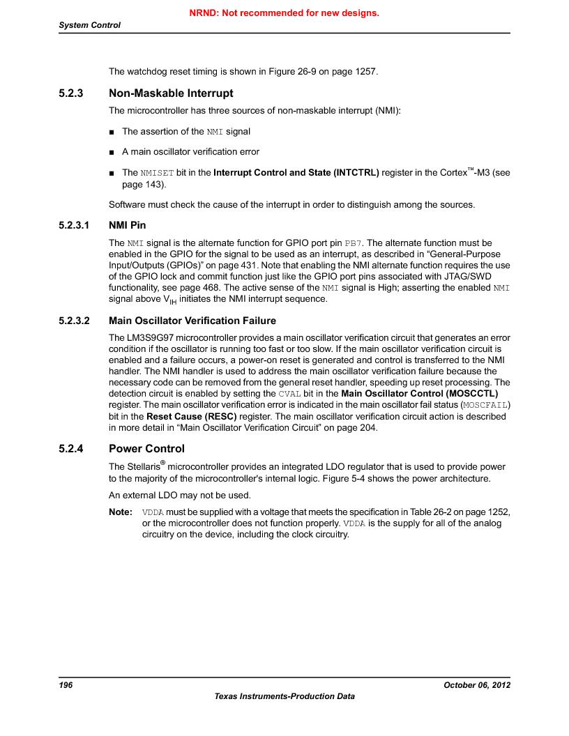 LM3S9G97 ,Texas Instruments厂商,Stellaris LM3S Microcontroller 108-NFBGA -40 to 85, LM3S9G97 datasheet预览  第196页