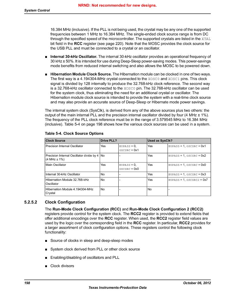 LM3S9G97 ,Texas Instruments厂商,Stellaris LM3S Microcontroller 108-NFBGA -40 to 85, LM3S9G97 datasheet预览  第198页