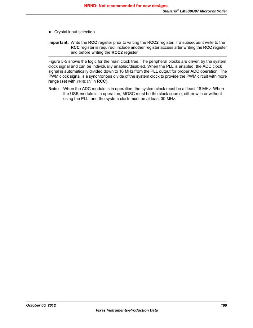 LM3S9G97 ,Texas Instruments厂商,Stellaris LM3S Microcontroller 108-NFBGA -40 to 85, LM3S9G97 datasheet预览  第199页