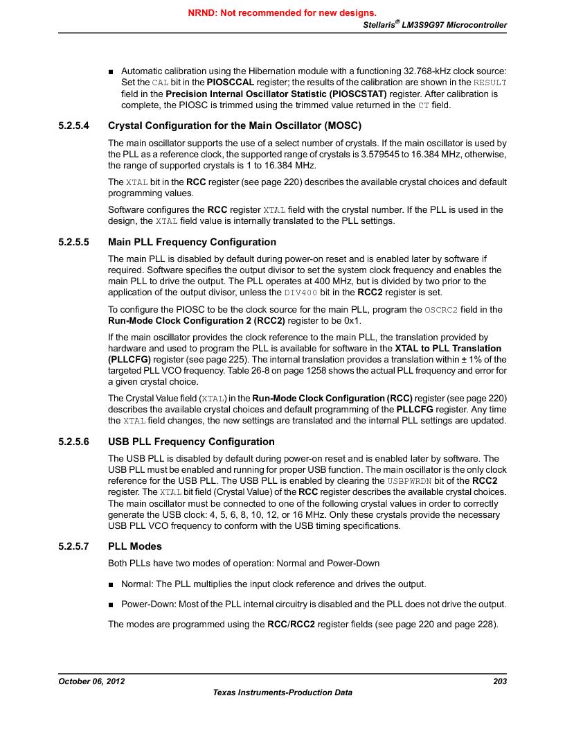 LM3S9G97 ,Texas Instruments厂商,Stellaris LM3S Microcontroller 108-NFBGA -40 to 85, LM3S9G97 datasheet预览  第203页