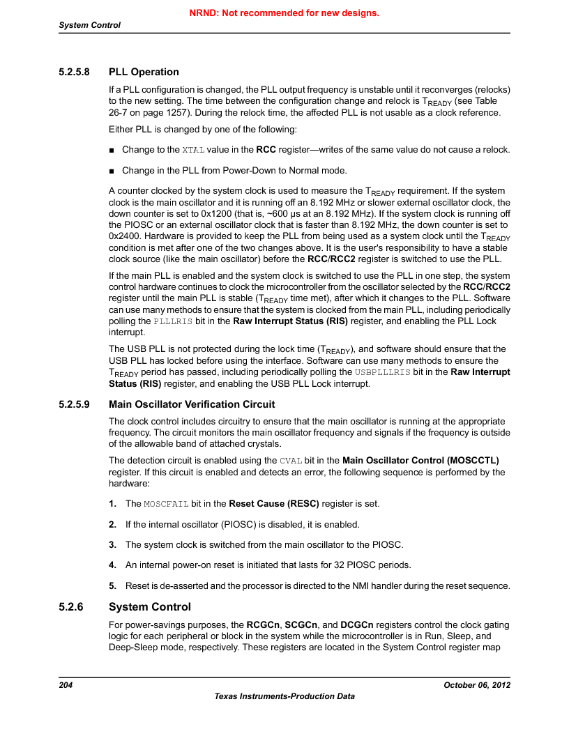 LM3S9G97 ,Texas Instruments厂商,Stellaris LM3S Microcontroller 108-NFBGA -40 to 85, LM3S9G97 datasheet预览  第204页