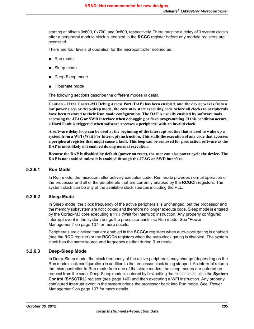 LM3S9G97 ,Texas Instruments厂商,Stellaris LM3S Microcontroller 108-NFBGA -40 to 85, LM3S9G97 datasheet预览  第205页