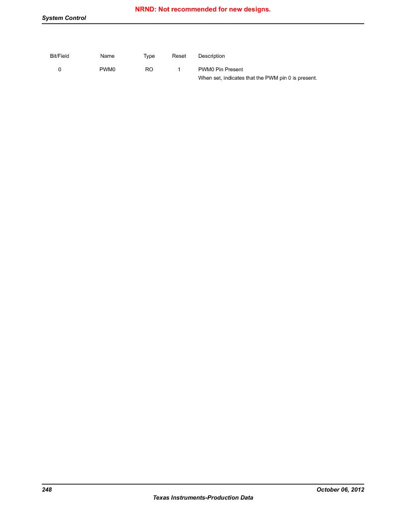 LM3S9G97 ,Texas Instruments厂商,Stellaris LM3S Microcontroller 108-NFBGA -40 to 85, LM3S9G97 datasheet预览  第248页
